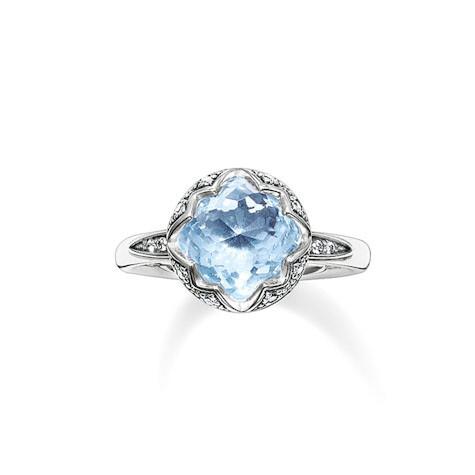 Thomas Sabo ring TR2028 W14 lichtblauw