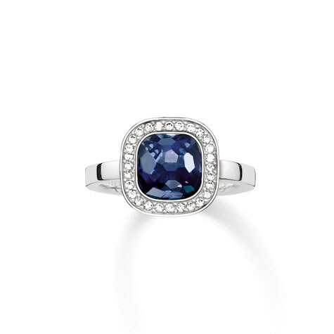 Thomas Sabo ring TR2029 W14 blauw