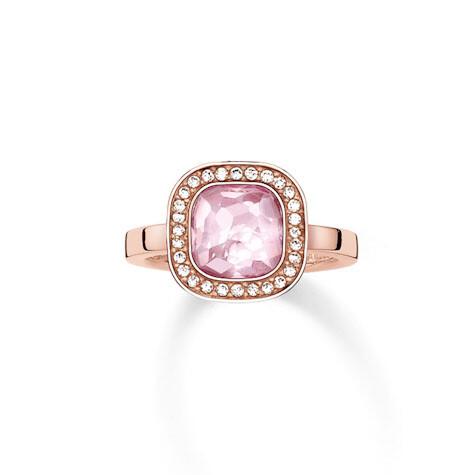Thomas Sabo ring TR2029 W14 roze