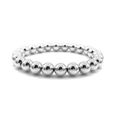 armband bol zilver 8 mm