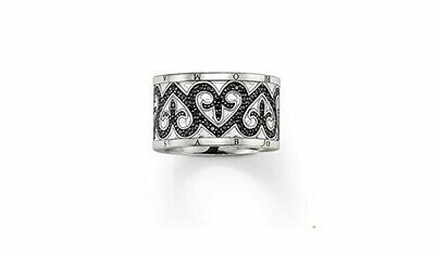 Thomas Sabo ring TR1907 zwart
