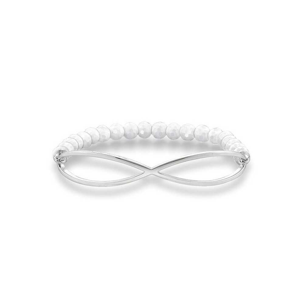 Thomas Sabo armband Love Bridge LBA0001 wit agaat