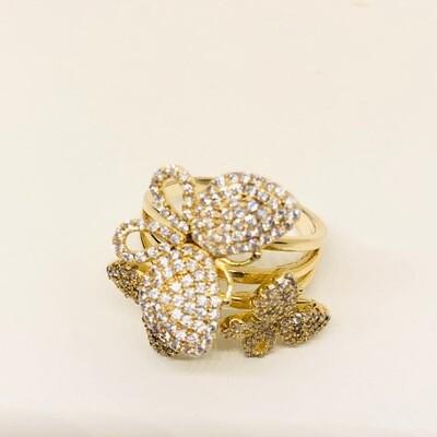 Ring vlinder klein geel