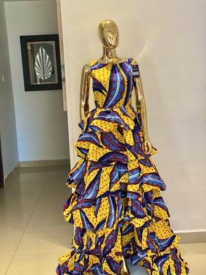 P Layered Ankara Dress