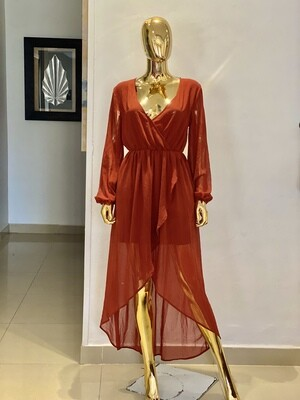 P Rust Vaccay Dress