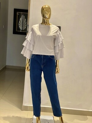 P H&M Layered Off White Blouse