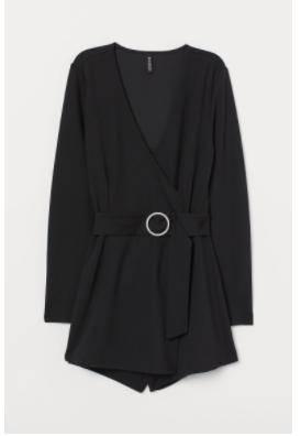 H&M Black Playsuit