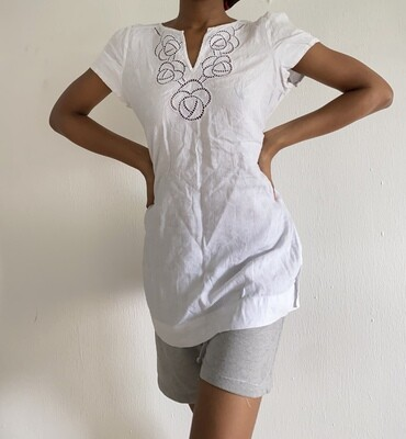 Marks and Spencer White Linen Shirt