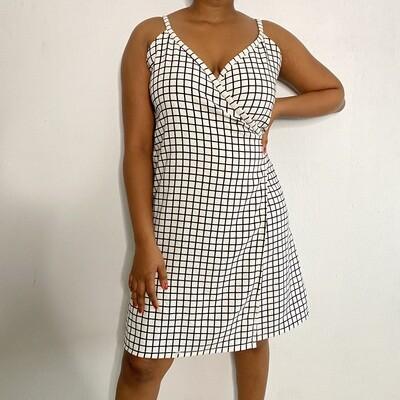 Checkbox Wrap Dress