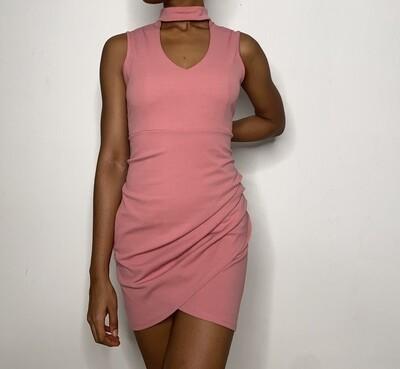 Rose High Neck Dress