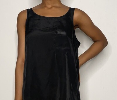 Black Camisole with Pocket Detail