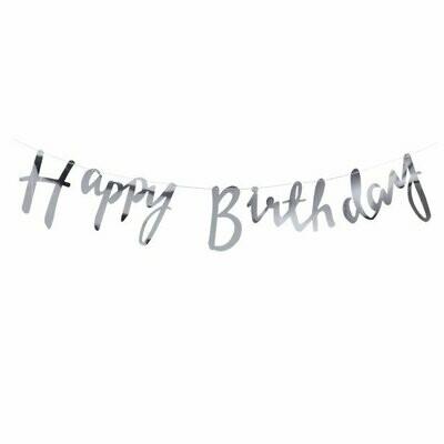 "Slinger ""Happy Birthday"" Zilver"