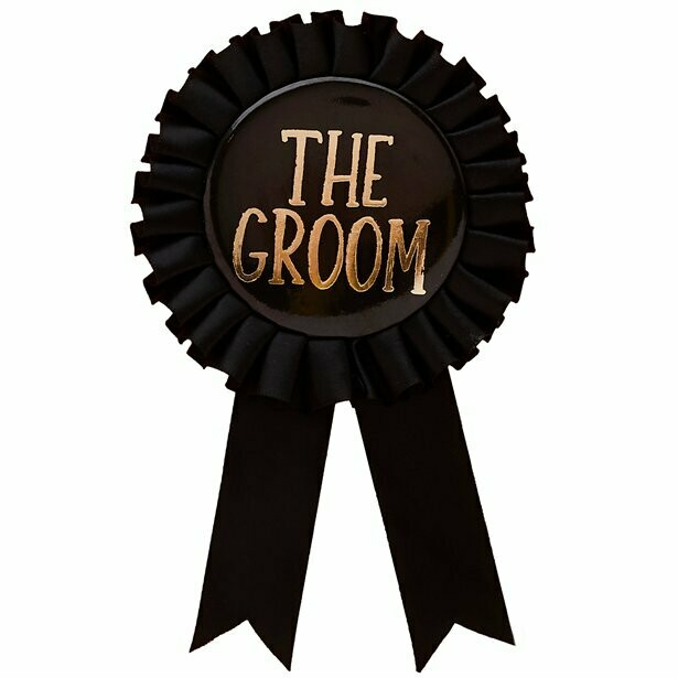 """The groom"" badge"