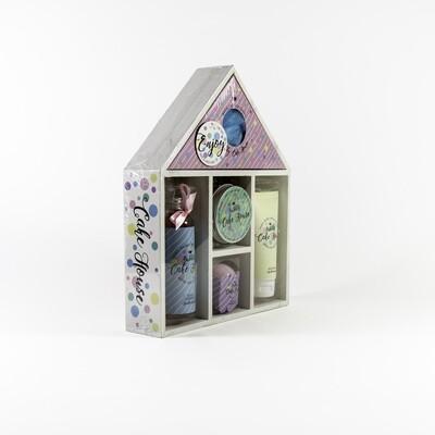 Cake House badgeschenkset in houten huis