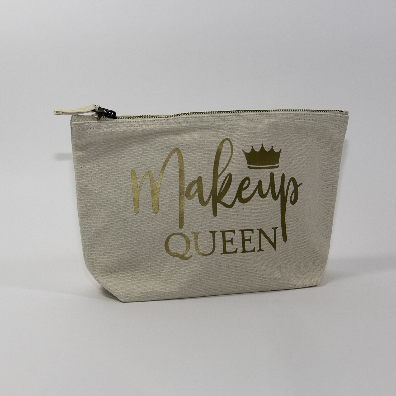 """Toilettas met opdruk """"Makeup Queen"""""""