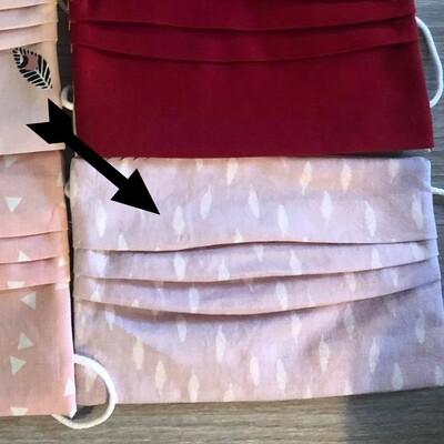 Mondmasker - Bedrukt - Roos witte blaadjes