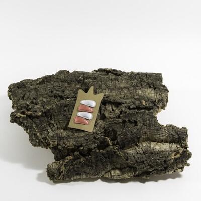 Klikklakspeld 35 mm wit-koraalroos (4 stuks per set)