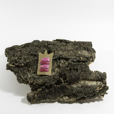 Klikklakspeld 35 mm roos-fuchsia (4 stuks per set)