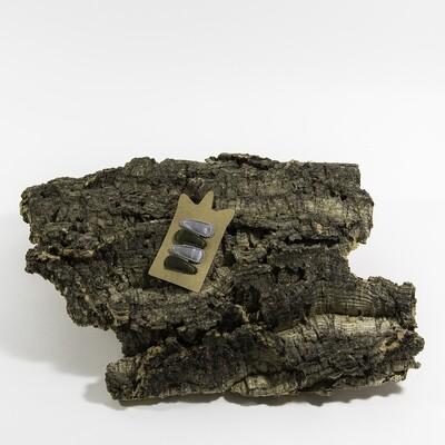 Klikklakspeld 35 mm grijs-kaki (4 stuks per set)