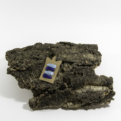 Klikklakspeld 35 mm lichtblauw-kobaltblauw (4 stuks per set)