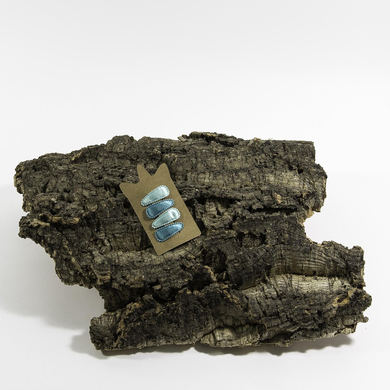 Klikklakspeld 35 mm licht mint-donker mint (4 stuks per set)