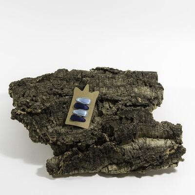 Klikklakspeld 35 mm lichtblauw-navyblauw (4 stuks per set)
