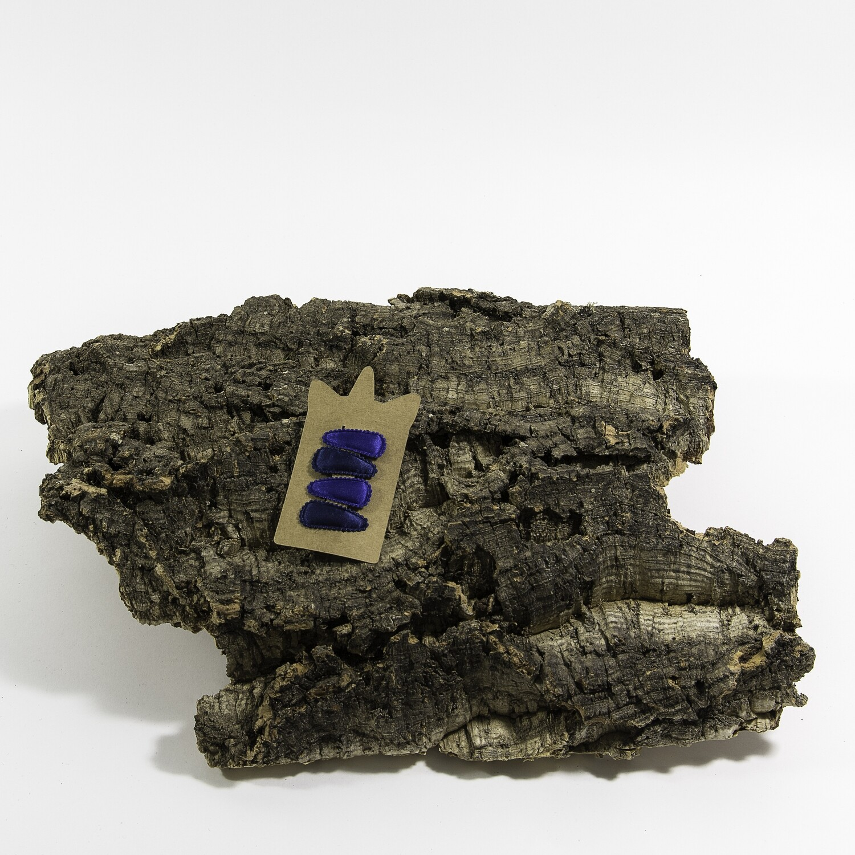 Klikklakspeld 35 mm navyblauw-kobaltblauw (4 stuks per set)
