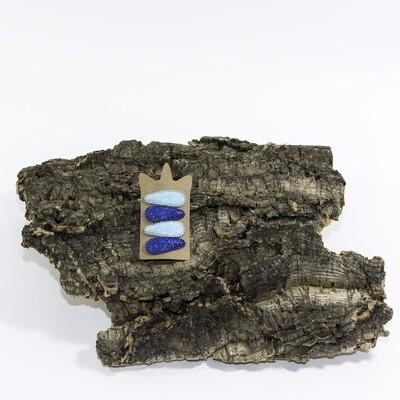 Klikklakspeld 45 mm glitter lichtblauw-donkerblauw (4 stuks per set)