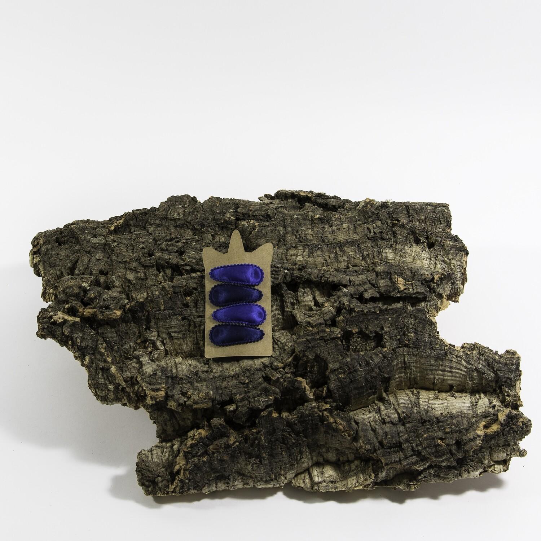 Klikklakspeld 45 mm navyblauw-kobaltblauw (4 stuks per set)
