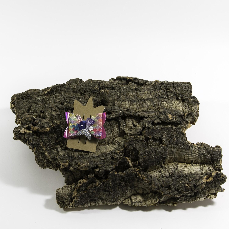 Haarstrikje 83 mm zeemeermin fuchsia (1 stuk)