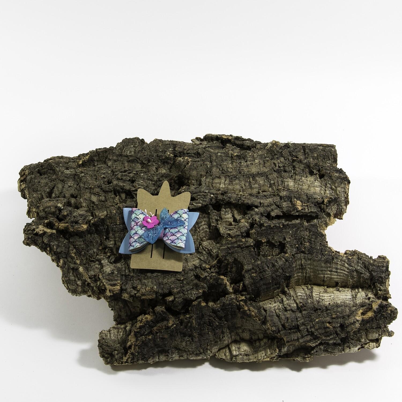 Haarstrikje 83 mm zeemeermin blauw (1 stuk)