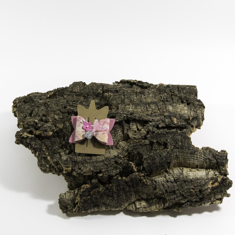 Haarstrikje 83 mm zeemeermin roos (1 stuk)