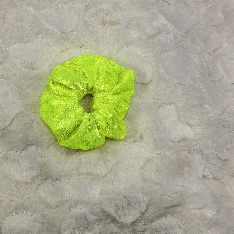 Velours de panne - Fluor geel