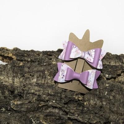 Haarstrikje 85 mm lila-unicorn (2 stuks per set)