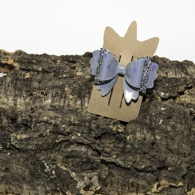 Haarstrikje 85 mm grijsster-glitter grijs (1 stuk)