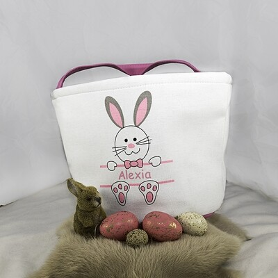 Paasmandje - Funny Bunny (roze)