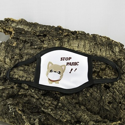 Mondmasker Kind - Stop Panic Hondje