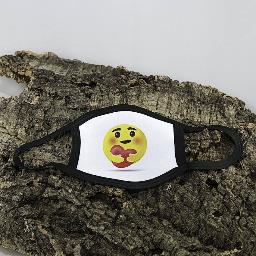Mondmasker Kind - Smiley hartje