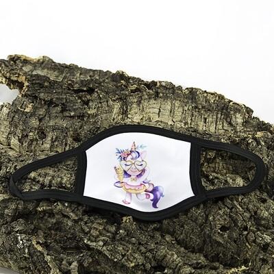 Mondmasker Kind - Unicorn met bril