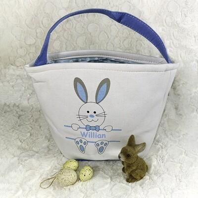 Paasmandje - Funny Bunny (blauw)