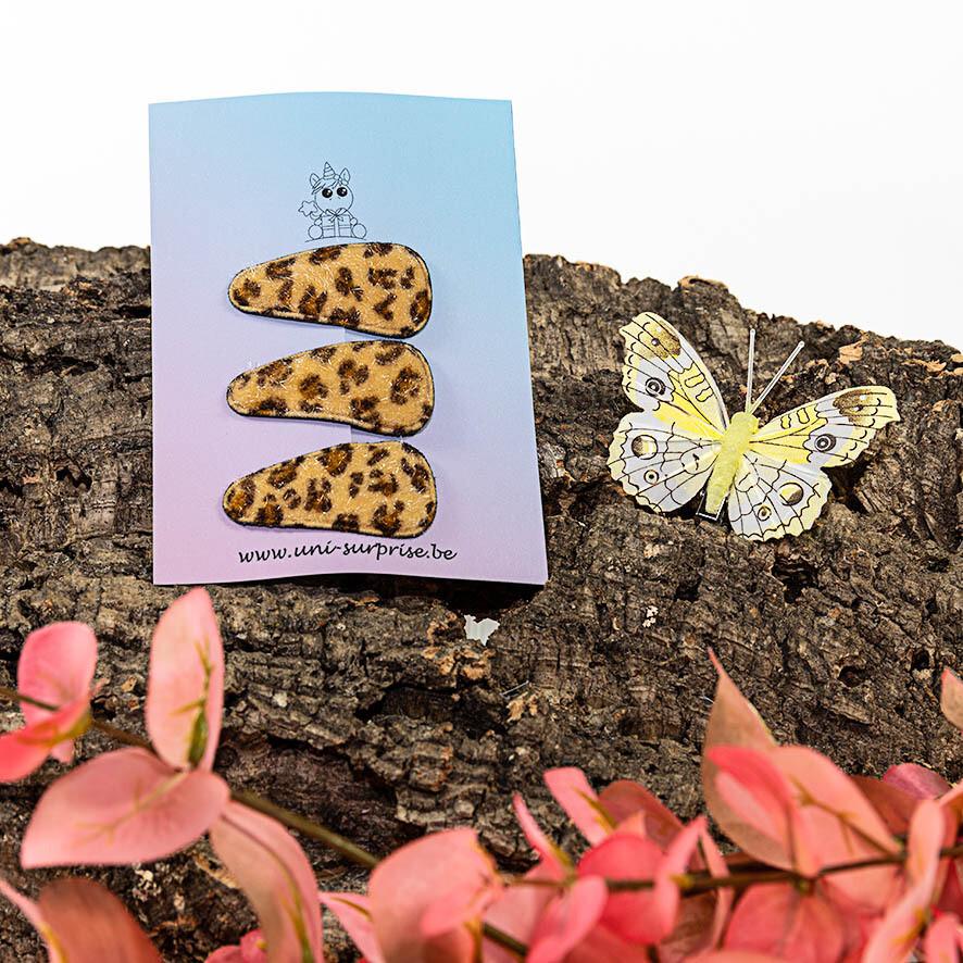 Klikklakspeldje met luipaardprint (lichtbeige)