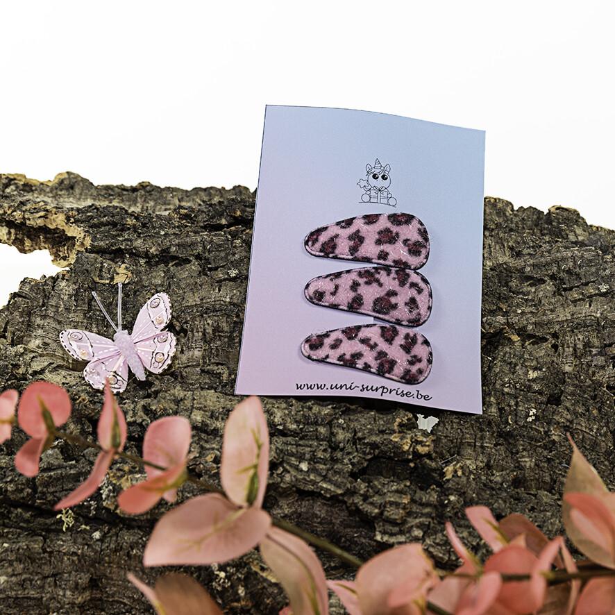 Klikklakspeldje met luipaardprint (lichtroos)