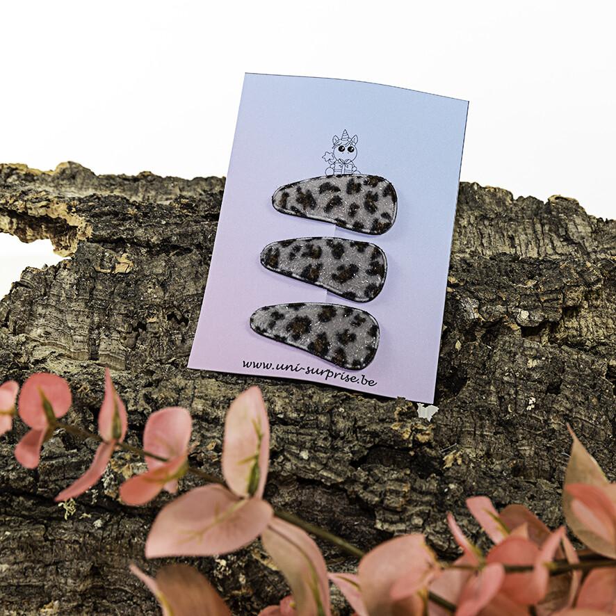 Klikklakspeldje met luipaardprint (grijs)