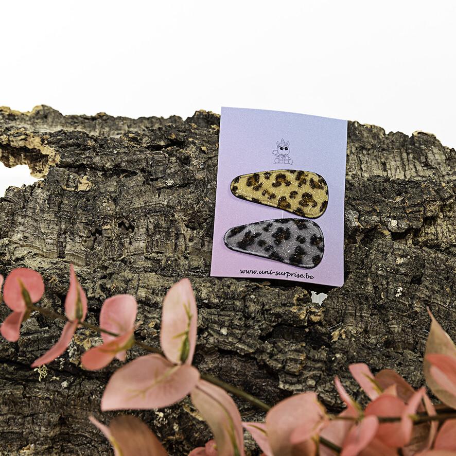 Klikklakspeldje met luipaardprint (Mix grijs-lichtbeige)