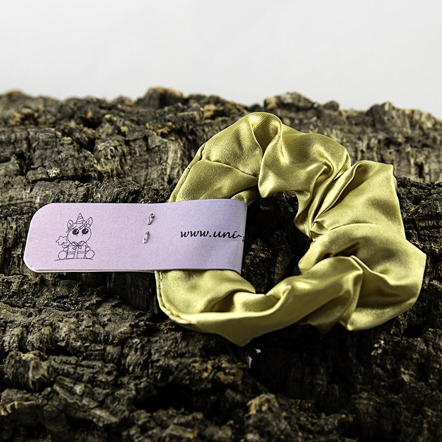 Scrunchie satijn - Goud