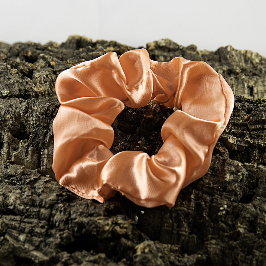 Scrunchie satijn - koraal