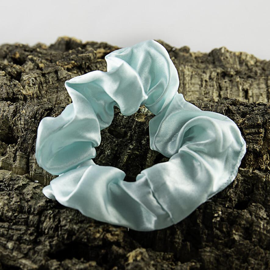 Scrunchie satijn - licht turquoise