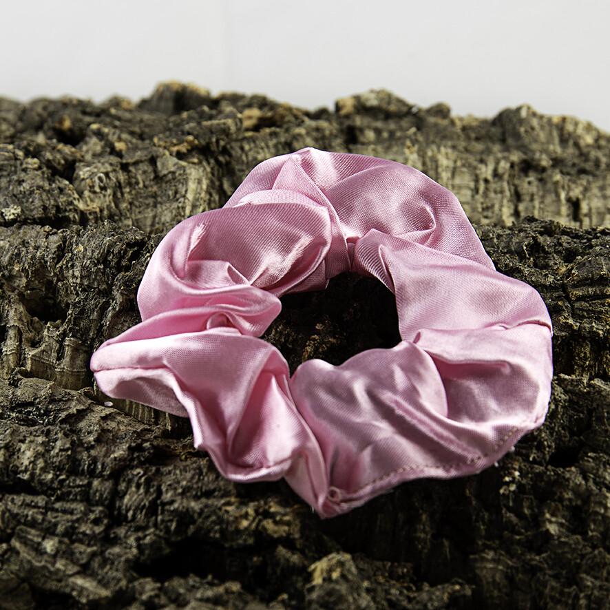 Scrunchie satijn - roos