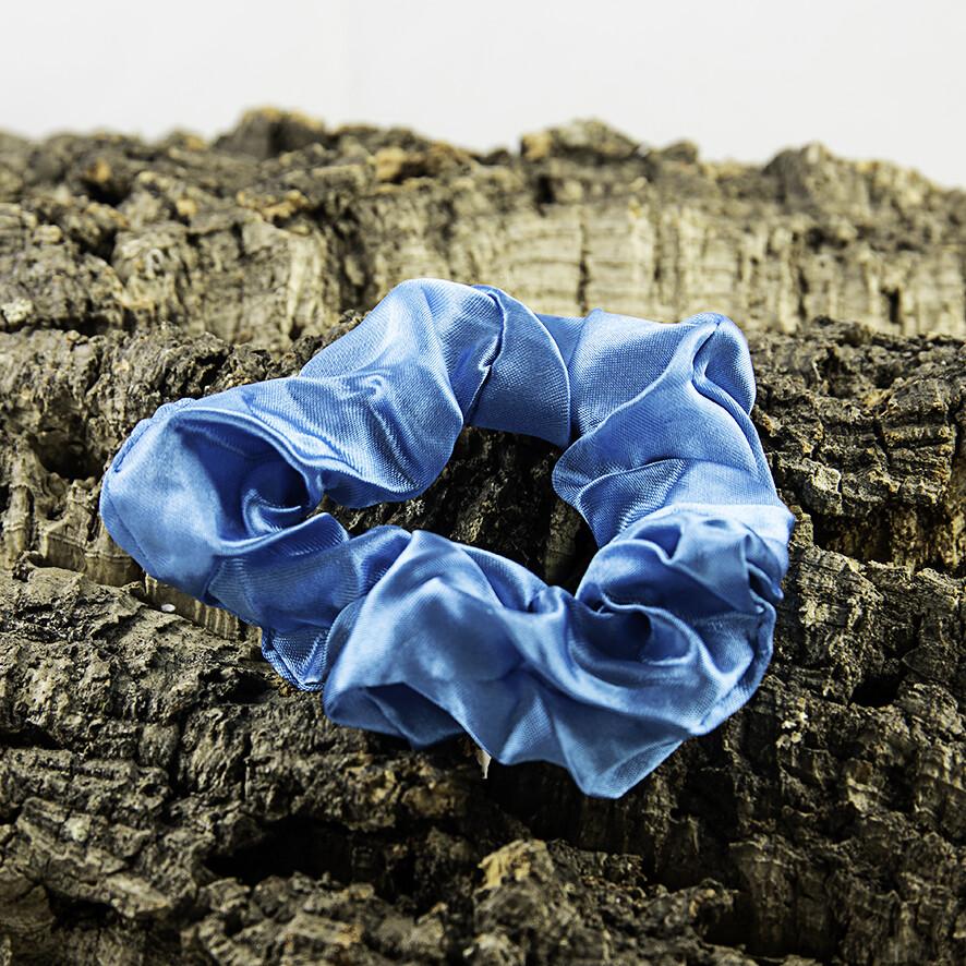 Scrunchie satijn - blauw