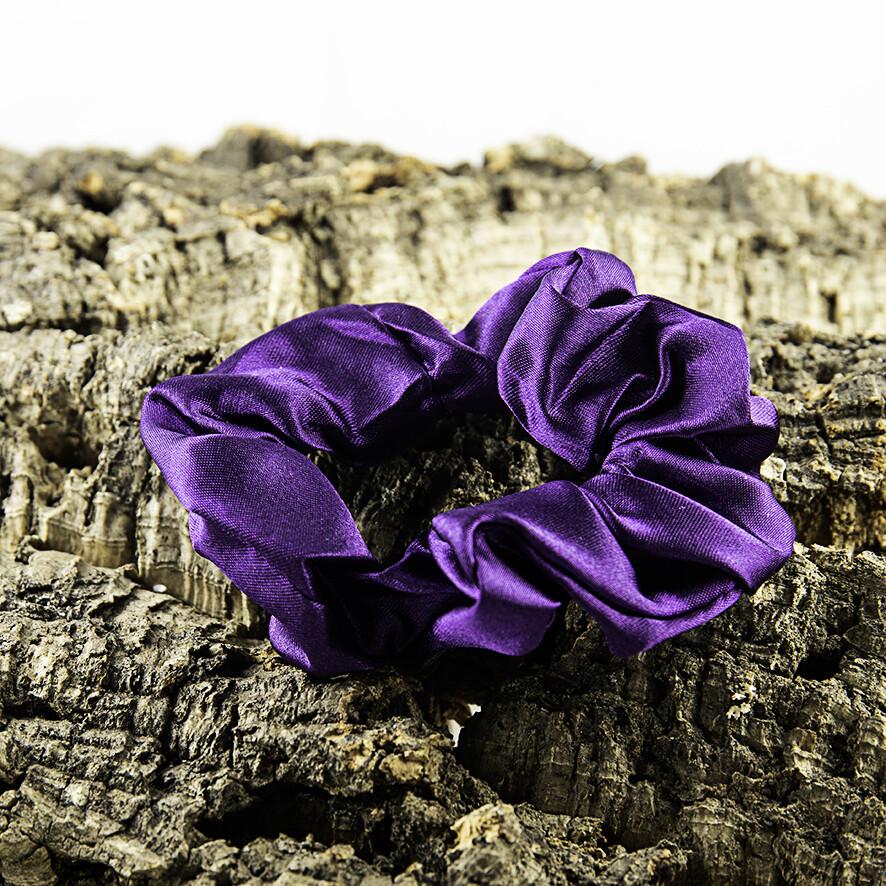 Scrunchie satijn - paars